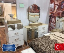 غرفة نوم تركية جديدة بدولاب 8 ابواب