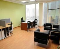 مكاتب بمساحات مختلفة للإيجار في العليا