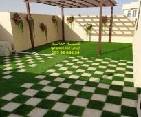 ارخص سعر تنسيق حدائق عشب صناعي عشب جداري الرياض جدة الدمام 0553268634
