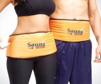 حزام الساونا سهل الاستخدام يعمل على التخلص من الدهون بالجسم
