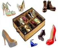 منظمة احذية لتخزين الاحذية وحفظها من الاتربة