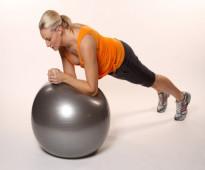 الكرة الهوائية لتقوية عضلات الجسم