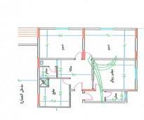 شقة 3 غرف في الكعكية 4 كيلو من الحرم