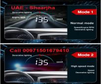 Head Up Display  (apply to cars with OBD2 interface) شاشة عرض السيارات و عداد السيارات