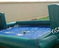 ملعب صابوني نطيطه زحليقه مائية زحليقه مع ملعب
