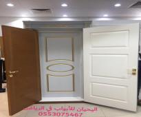 افخم أبواب خشب للبيع بالرياض 0553075467 اليحيان لتصنيع ابواب خشب داخليه بالرياض،ابواب خشبية داخليه وخارجية للبيع بالرياض