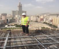 مهندس مدني خبرة 7سنوات بفنادق مكة