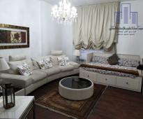 للايجار شقة كبيرة مؤثثة ومجهزة بالكامل اعمار