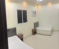 شقة   غرفتين مؤثثة