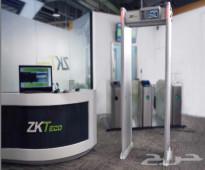بوابات امنية لكشف المعادن والاسلحة الالكترونية ZKTECO للفنادق ومراكز التسوق والتجمعات