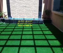 تنسيق حدائق جدة 0553268634 عشب صناعي عشب جداري