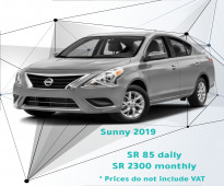 Nissan Sunny 2019 for rent