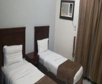 شقة مكونة من   غرفتين نوم مفروشة للايجار اليومى