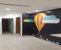 مكتب ادارى للايجار مساحتة 315 متر على شارع خالد بن الوليد