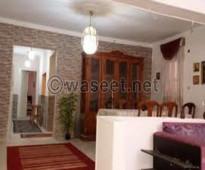 شقة مفروشة للايجار تطل على شارع سوريا بالمهندسين القاهرة
