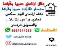 صبيا نخلان قرى صبيا ارض للبيع