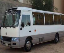 30 seats Toyota buses coaster available for rent