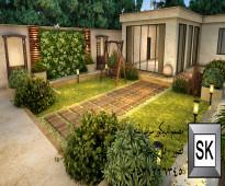 تنسيق و تصميم و اشراف و تنفيذ حدائق و شاليهات بالرياض
