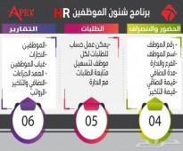 برنامج ادارة شئون الموظفين والموارد البشريه HR