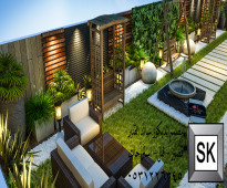 تنفيذ - تصميم - اشراف - ترميم  حدائق للفلل و القصور و الشاليهات بالرياض