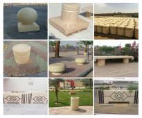 مستلزمات تزيين حدائق خرسانية في الرياض 0504372000 حواجز طرق خرسانية في الرياض