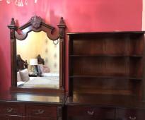 غرفة نوم لشخصين بكامل ملحقاتها (صناعة وطنية بنوعية خشب ممتازه)
