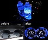إضاءة حامل الاكواب مضيء LED لجميع السيارات - للبيع