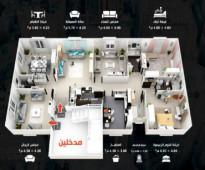 للبيع شقة تحت الإنشاء حي الريان قرب مسجد وحديقة