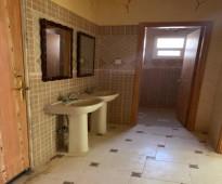 شقة للايجار مدخلين نساء ورجال عداد كهرباء