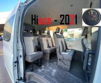 ايجار تويوتا هاي اس 14 راكب 2021 لجولات السياحيه
