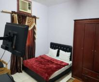 شقة مفروش غرفتين للايجار