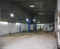 للايجار ورشة خلف مركز الهرم الواقع على الدائري الغربي في صناعية العاصمة مساحتها (300 متر).