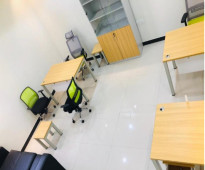 مكاتب موثثه للايجار الشهري والسنوي باسعار مناسبه ومخفظه شامل الخدمات