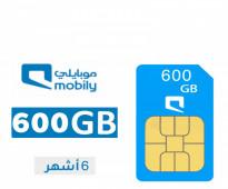 شرائح موبايلي بيانات لمدة 6 شهور 650 ريال الكميه محدوده