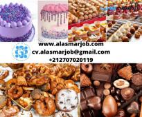 مطلوب شيفات للعمل بمحل حلويات بالمملكة العربية السعودية