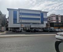 للايجار معارض وشقق ادارية على شارع عبدالرحمن السديري حي السلامة