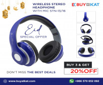 Buy Wireless Stereo Headphone with MIC STN 13/16 with 20% OFF in Saudi Arabia