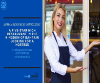 A five-star high restaurant in the Kingdom of Bahrain has a vacancy with the following title: