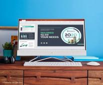 كمبيوتر مكتبي واحد ، معالج AMD Athlon Silver 3050U ، 8 جيجا بايت رام ، 256 جيجا بايت SSD ، ويندوز 10 هوم