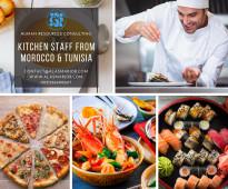 شركة الأسمر نور الغرب توفر طباخين أكل بحري من الجنسية المغربية و التونسية