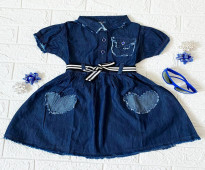 فستان بناتي جينز