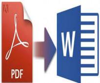 تحويل ملفات pdf لـ Word، وبأنسب الأسعار، وسعر خاص للكميات.