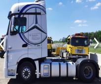 بسعر منافس للبيع شاحنه مرسيدس اكتروس  1845 mp4 (2*4) موديل : 2013 الجير بوكس  ثناءي