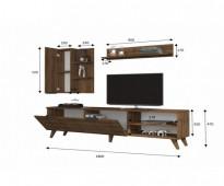 طاولة تلفزيون لون بني عريه صناعة تركية