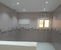 شقه 3 غرف ودورتين مياه وصاله ومطبخ امريكي