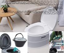 تواليت ومرحاض متنقل كرسي حمام للمرضى بلاستيك - للرحلات والتخييم مقعد تواليت محمول ، للسفر ، التنزه ، داخلي وخارجي كبار ا