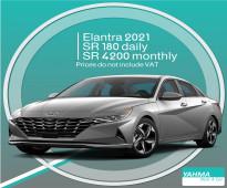 Hyundai Elantra 2021 for rent in Riyadh and Dammam